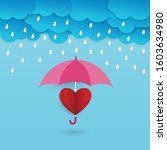 Umbrella Protect Red Heart From ...