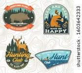 set of hunting club badge.... | Shutterstock .eps vector #1603642333