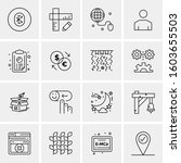 16 universal business icons... | Shutterstock .eps vector #1603655503
