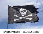 Jolly roger. pirate flag...