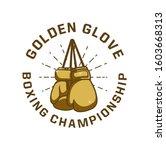 Boxing Design T Shirt Golden...