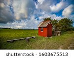 Small Wood Red House Of Bus...