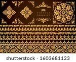 set of decorative design...   Shutterstock .eps vector #1603681123