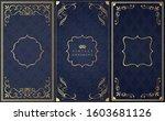 set of decorative design...   Shutterstock .eps vector #1603681126