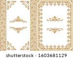 set of decorative design...   Shutterstock .eps vector #1603681129