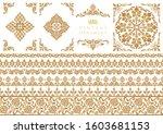 set of decorative design...   Shutterstock .eps vector #1603681153