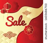 chinese new year sale promotion ... | Shutterstock .eps vector #1603686703