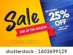 vector illustration end of the... | Shutterstock .eps vector #1603699129