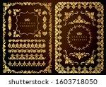 set of decorative design...   Shutterstock .eps vector #1603718050