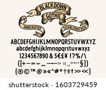 blackdown gothic text typeface  ... | Shutterstock .eps vector #1603729459