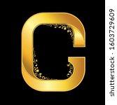 gold letter g logo baroque style | Shutterstock .eps vector #1603729609
