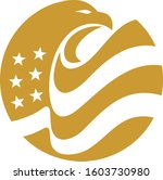 eagle head bold american flag... | Shutterstock .eps vector #1603730980