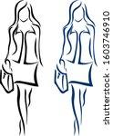 working woman logos  | Shutterstock .eps vector #1603746910