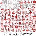 christmas hand drawn icon's set  | Shutterstock .eps vector #160375508