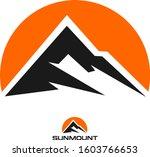sun mount   logo  | Shutterstock .eps vector #1603766653