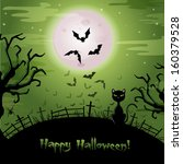 halloween illustration.  | Shutterstock . vector #160379528