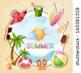summer holiday illustration  | Shutterstock . vector #160381328