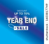 vector banner end year of sale. ...   Shutterstock .eps vector #1603817749