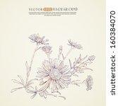 ink sketch of flowers.vector...