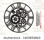 wall clock template with... | Shutterstock .eps vector #1603856863