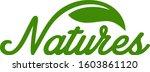 natures typography leaf     Shutterstock .eps vector #1603861120