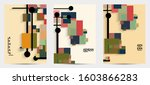 abstract retro colored mid... | Shutterstock .eps vector #1603866283