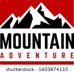 mountain red square and...   Shutterstock .eps vector #1603874110