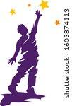 men reach stars    Shutterstock .eps vector #1603874113