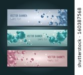 vector set of abstract colorful ... | Shutterstock .eps vector #160387568