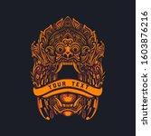 barong bali art vector...   Shutterstock .eps vector #1603876216