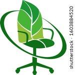 leaf chair    Shutterstock .eps vector #1603884520