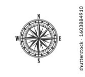compass symbol and sign ... | Shutterstock .eps vector #1603884910