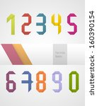 vector set of numbers made of... | Shutterstock .eps vector #160390154
