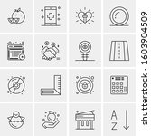 16 universal business icons...   Shutterstock .eps vector #1603904509