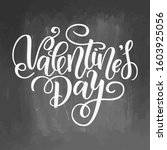 happy valentines day card.... | Shutterstock . vector #1603925056