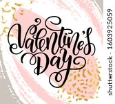 happy valentines day card.... | Shutterstock . vector #1603925059