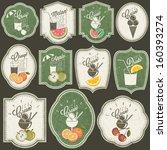 retro vintage style soft drinks ... | Shutterstock .eps vector #160393274