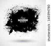 grunge splash banner | Shutterstock .eps vector #160394780
