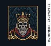 skull king royal vector...   Shutterstock .eps vector #1603969576