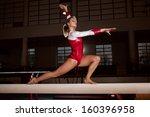 portrait of young gymnasts... | Shutterstock . vector #160396958