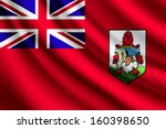 waving flag of bermuda | Shutterstock .eps vector #160398650