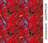watercolor seamless pattern... | Shutterstock . vector #1603990159