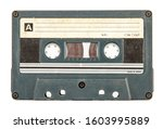 Small photo of Old cassette tape used in the eighties and nineties of the twentieth century
