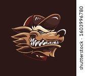 cartoon wolf head vector...   Shutterstock .eps vector #1603996780