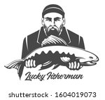 fishing emblem isolated on... | Shutterstock . vector #1604019073