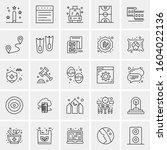set of 25 universal business...   Shutterstock .eps vector #1604022136