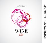 vector wine list with stain icon | Shutterstock .eps vector #160402739