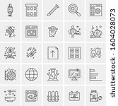 set of 25 universal business...   Shutterstock .eps vector #1604028073