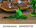 A Vibrant Green Ornament Of A...