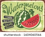 Watermelons Farm Retro Sign...